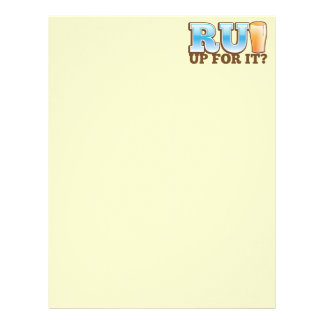 RU Up for it? BEER! Letterhead