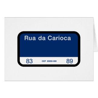 Rua da Carioca, Rio de Janeiro, Street Sign Greeting Card
