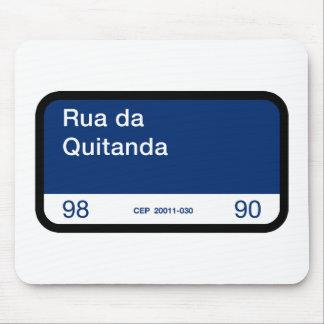 Rua DA Quitanda, Río de Janeiro, placa de calle Mousepad