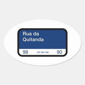 Rua DA Quitanda, Río de Janeiro, placa de calle Pegatina Ovalada