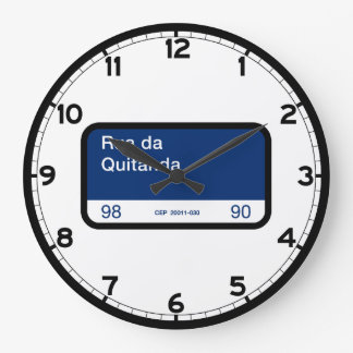 Rua DA Quitanda, Río de Janeiro, placa de calle Reloj Redondo Grande