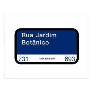 Rua Jardim Botânico, Rio de Janeiro, Street Postcard