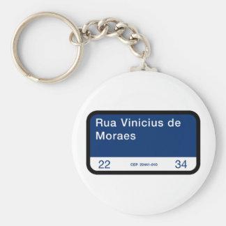 Rua Vinicius de Moraes, Rio de Janeiro Street Sign Keychain