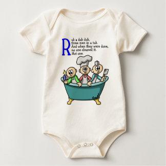 Rub A Dub Dub Baby Bodysuit