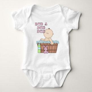 Rub a Dub Dub Baby in Tub Design Baby Bodysuit
