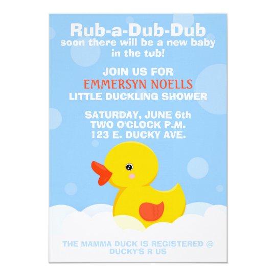 RUBADUBDUB Baby ShowerBirthday Invitation – Rubber Duck Birthday Invitations