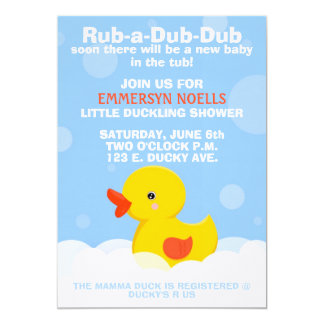 RUB-A-DUB-DUB Baby Shower/Birthday Invitation