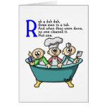 Rub A Dub Dub Greeting Cards