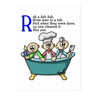 Rub A Dub Dub Postcard