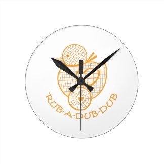 Rub-A-Dub-Dub Round Clock