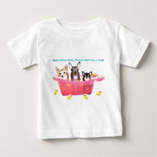 Rub a Dub Dub Three Chis in a Tub Baby T-Shirt
