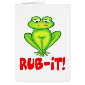 Rub-it Frog Card
