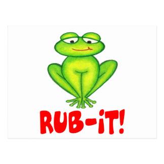 Rub-it Frog Postcard