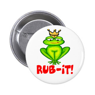 Rub-it Frog Prince 2 Inch Round Button