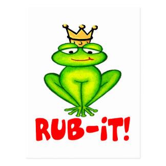 Rub-it Frog Prince Postcard