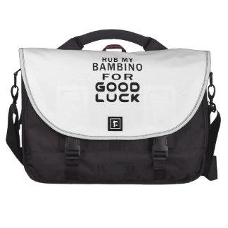 Rub My Bambino Cat For Good Luck Laptop Messenger Bag