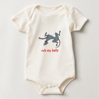 rub my belly baby T Baby Bodysuit