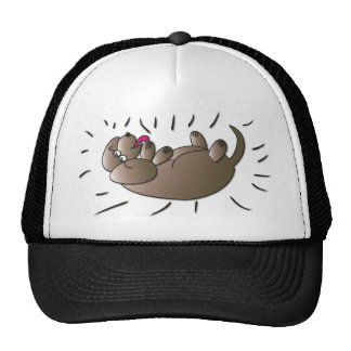 Rub My Belly Dog Art Mesh Hat