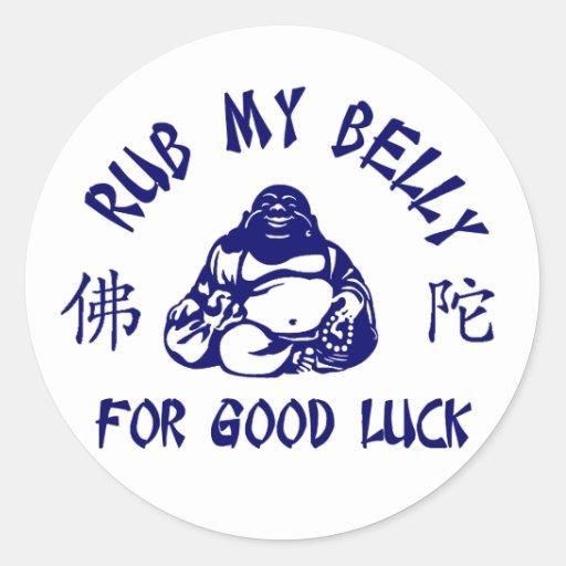 Rub my Buddha Belly for good luck Sticker