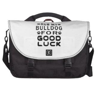 Rub My Bulldog For Good Luck Laptop Bags