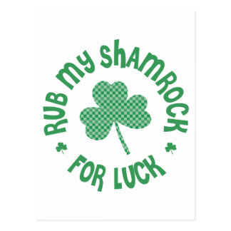 Rub my Shamrock Postcard