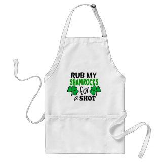 Rub My Shamrocks For a Shot Adult Apron