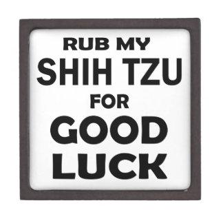 Rub my Shih Tzu for good luck Premium Jewelry Boxes