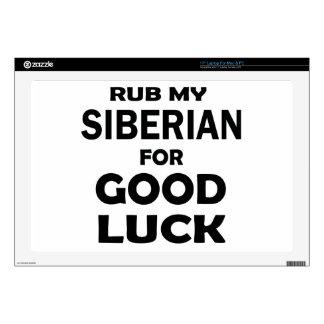 "Rub my Siberian for good luck 17"" Laptop Skins"