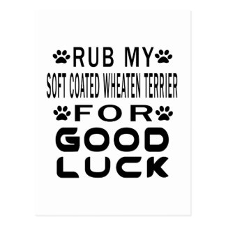 Rub My Soft Coated Wheaten Terrier For Good Luck Postcard
