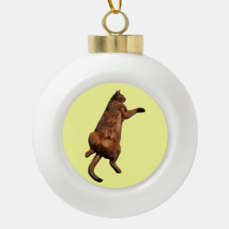 Rub My Tummy Ceramic Ball Christmas Ornament
