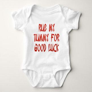 Rub My Tummy For Good Luck Baby Bodysuit