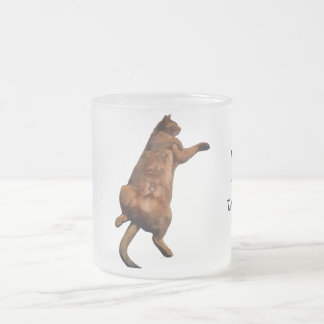 Rub My Tummy Frosted Glass Coffee Mug
