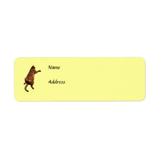 Rub My Tummy Custom Return Address Label