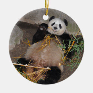 Rub my Tummy Panda Bear Ceramic Ornament