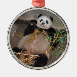 Rub my Tummy Panda Bear Metal Ornament