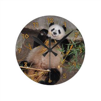 Rub my Tummy Panda Bear Round Clock
