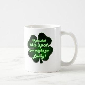 Rub this spot, you might get lucky coffee mug
