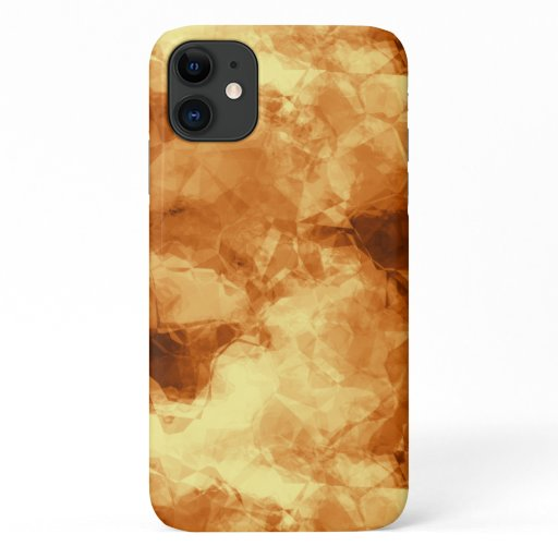 Rubbed Gold Foil Design iPhone 11 Case