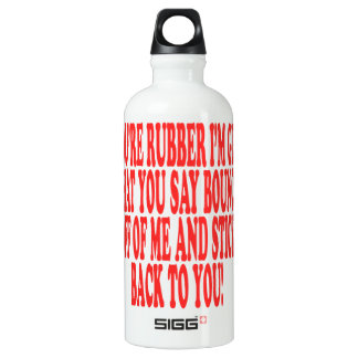 Rubber And Glue Aluminum Water Bottle