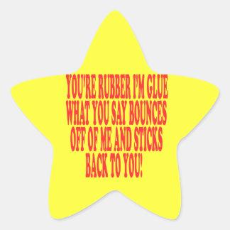 Rubber And Glue Star Sticker