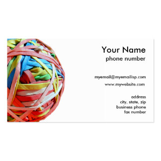 Rubber band ball Double-Sided standard business cards (Pack of 100)