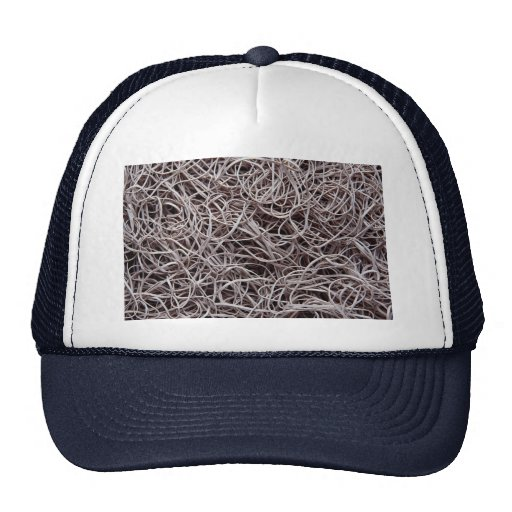 Rubber bands trucker hat