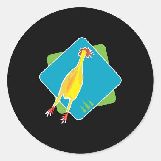 rubber chicken classic round sticker