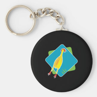 rubber chicken keychain