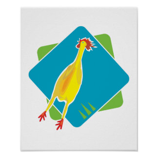 rubber chicken poster