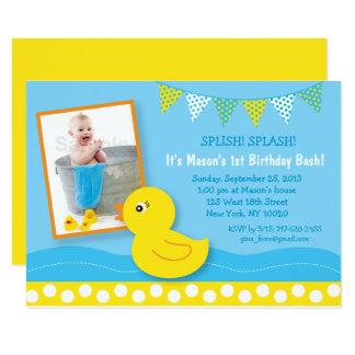 Rubber Duck 1st Birthday Card