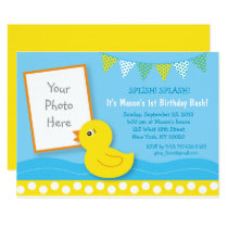 Rubber Duck 1st Birthday Card