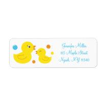 Rubber Duck Address Labels
