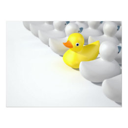 Rubber Duck Against The Flow Card