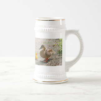 Rubber Duck and Mother Duck Beer Stein